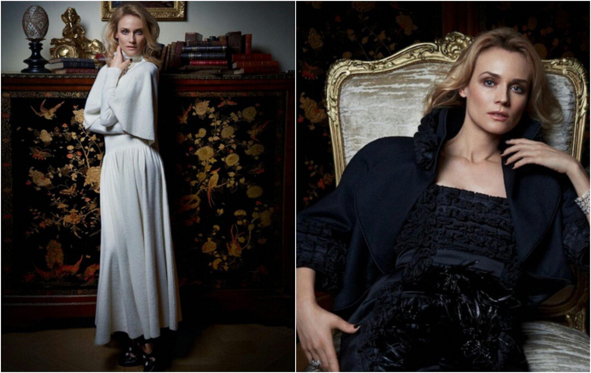 Diane Kruger en Chanel Harper's Bazaar Esprit de Gabrielle