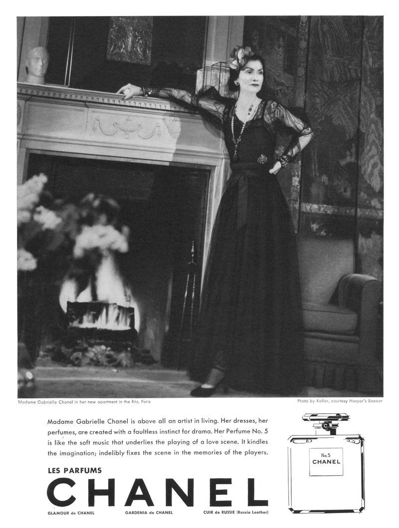 Coco Chanel publicité N°5_1937 Esprit de Gabrielle