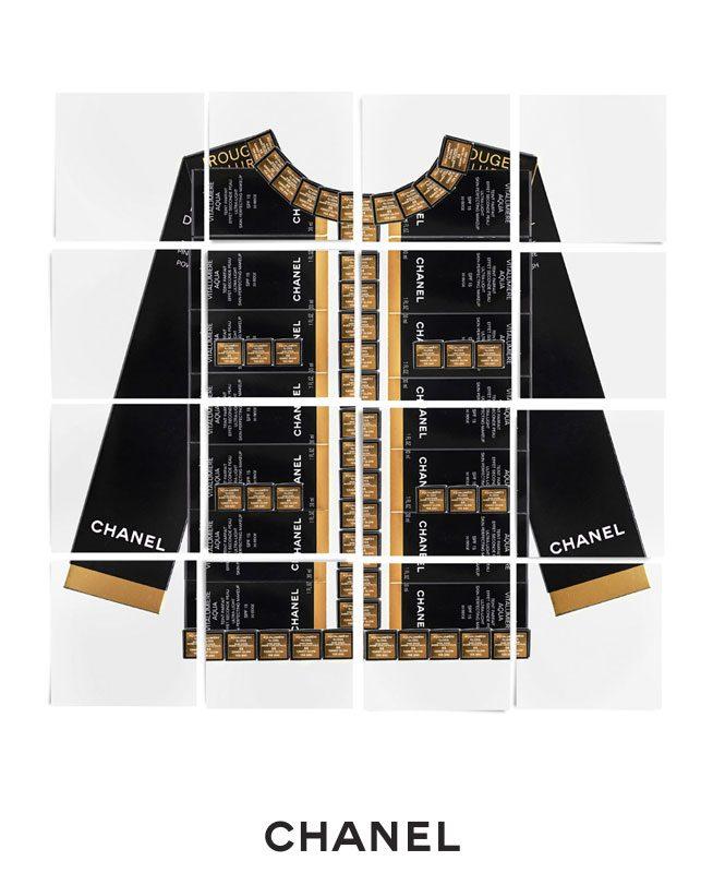 La veste Chanel en black boxes Chnael Makeup L'Esprit de Gabrielle