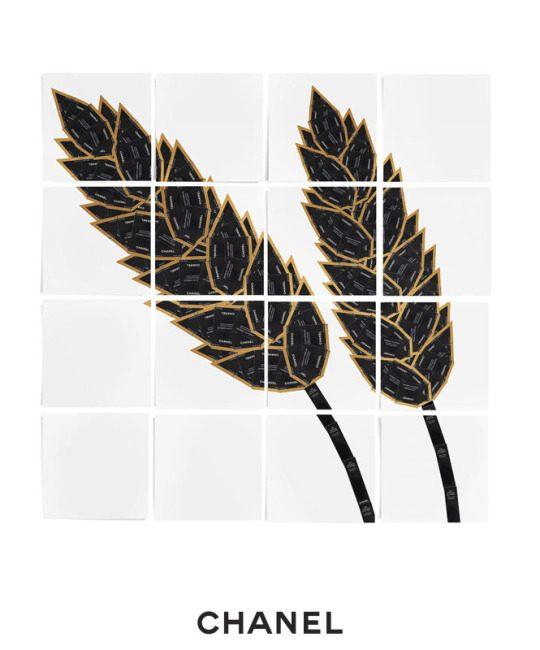 L'épi de blé en black boxes Chanel Makeup L'esprit de Gabrielle