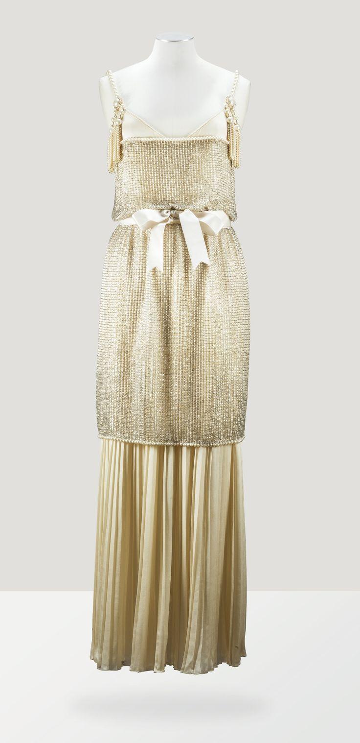 Chanel Haute Couture Robe tunique en résille perlée 1991 L'Esprit de Gabrielle