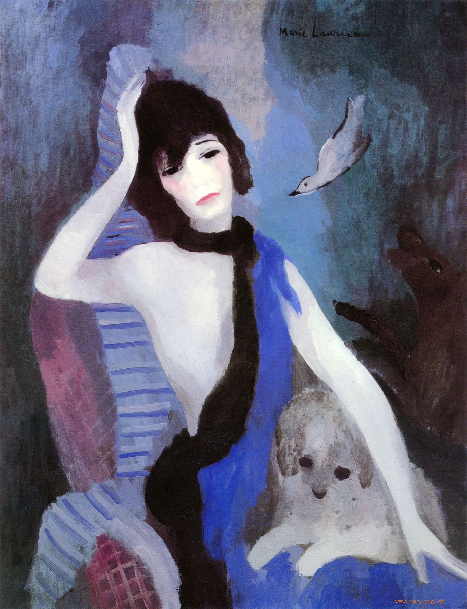 Mademoiselle Chanel par Marie Laurencin 1923 Esprit de Gabrielle espritdegabrielle.com
