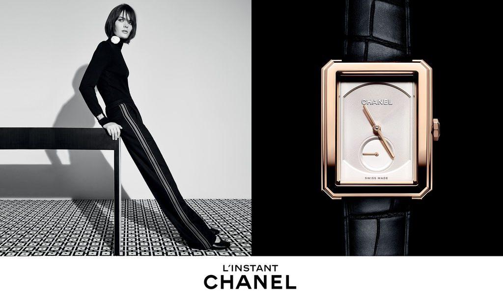 Publicité l'Instant Chanel horlogerie montre Boy Friend 2015 Esprit de Gabrielle espritegabrielle.com