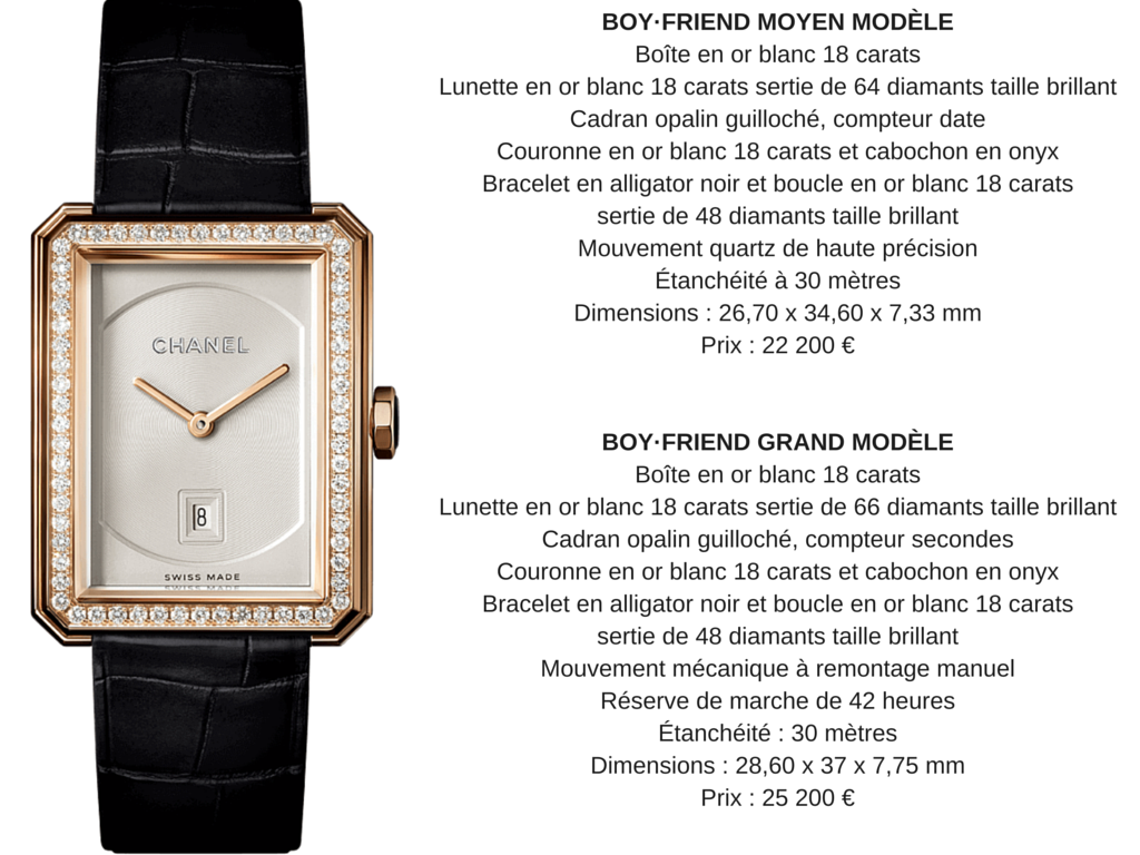 Chanel montres BOY·FRIEND or beige diamants Esprit de Gabrielle espritdegabrielle.com