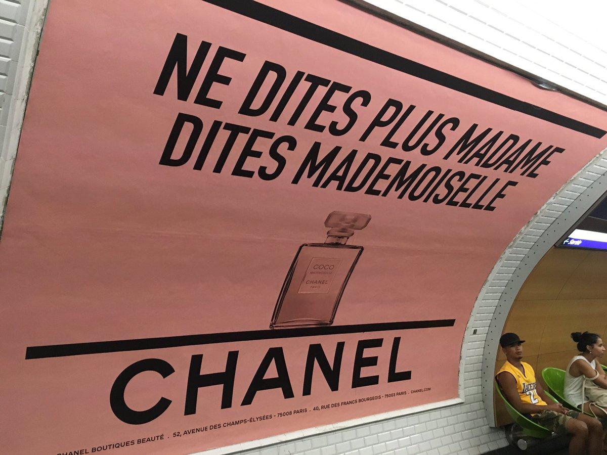 Chanel publicité métro RATP paris Esprit de Gabrielle espritdegabrielle.com
