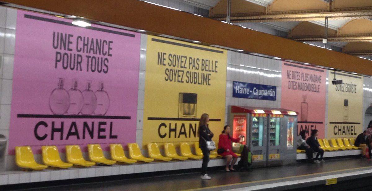 Chanel publicité metro paris Esprit de Gabrielle espritdegabrielle.com