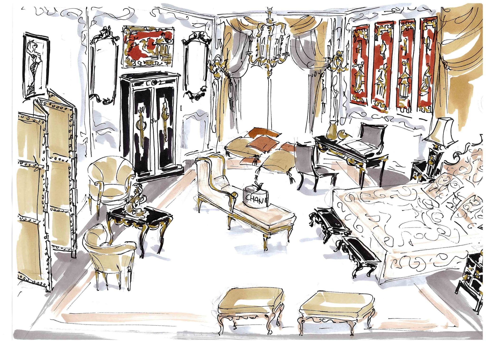Vente acturial mobilier Ritz suite Coco Chanel Esprit de Gabrielle espritdegabrielle.com