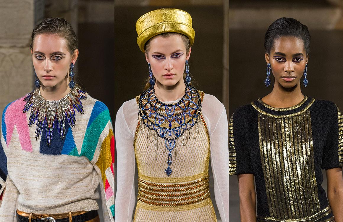 CHANEL Métiers d'art Paris New-York Bijoux Les nuances bleutées, en référence au lapis-lazuli la pierre des pharaons Esprit de Gabrielle espritdegabrielle.com
