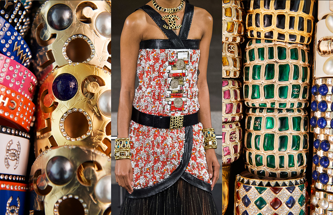 CHANEL Métiers d'art Paris New-York Bijoux accumulation de manchettes Esprit de Gabrielle espritdegabrielle.com
