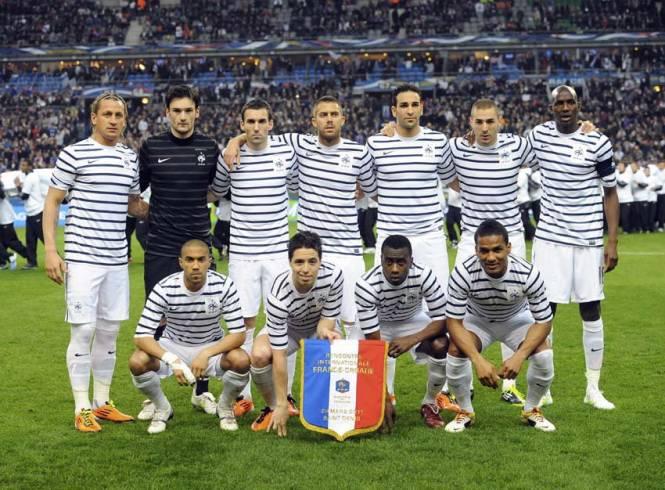 Equipe de France 2010 maillot Karl Lagerfeld Esprit de Gabrielle espritdegabrielle.com