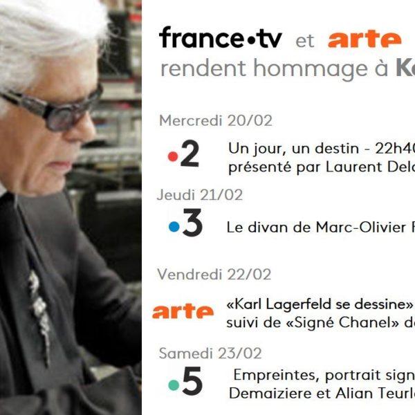 Hommages à Karl Lagerfeld sur France Télévisions et ARTE