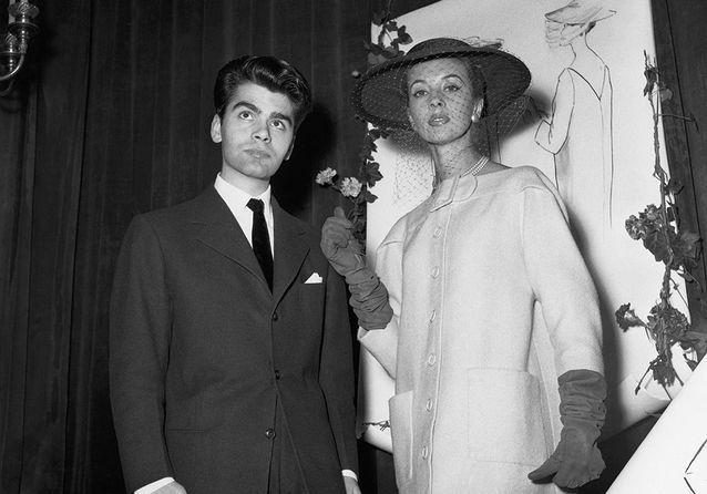 Karl Lagerfeld premier prix concours Secrétariat international de la laine 1954 Esprit de Gabrielle espritdegabrielle.com