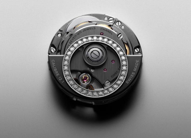 f446207d18b CALIBRE 12.1 DIAMANTS BRILLANT. Mouvement Manufacture Calibre 12.1.  Mouvement mécanique à remontage automatique