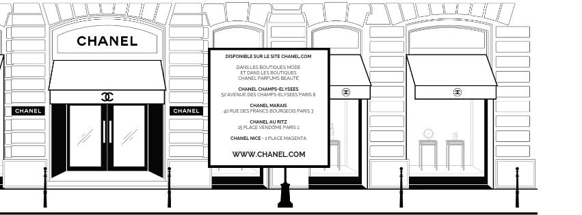 Adresses boutiques CHANEL beauté Esprit de Gabrielle espritdegabrielle.com