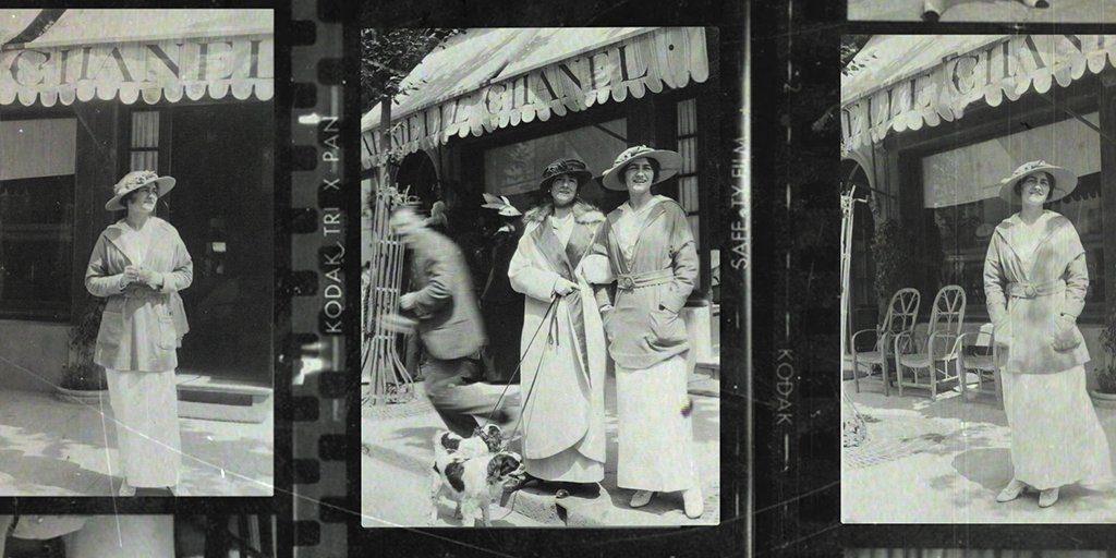 Gabrielle Chanel devant sa boutique de Deauville Esprit de Gabrielle espritdegabrielle.com