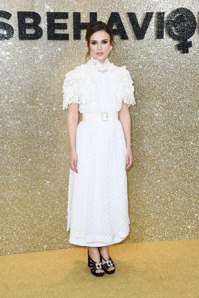 Keira Knightley Premiere mondiale film Misbehaviour Londres Esprit de Gabrielle espritdegabrielle.com