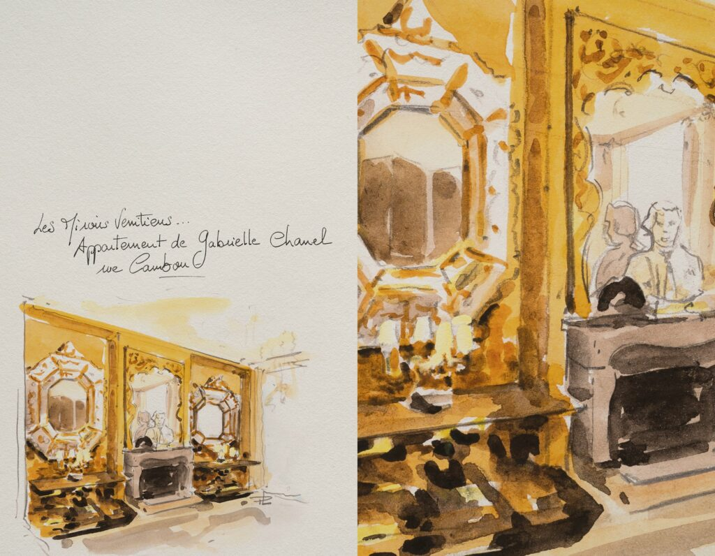 CHANEL Escale à Venise - CARNET CROQUIS Patrice Leguéreau Esprit de Gabrielle espritdegabrielle.com
